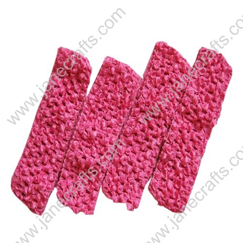 "1.5"" Crochet Headbands in Shocking Pink-24PCS"