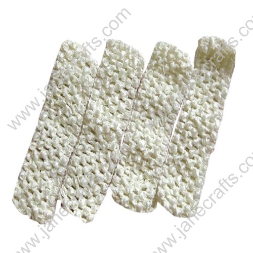 "1.5"" Crochet Headbands in Cream-24PCS"