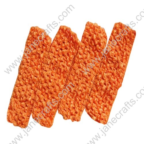 "1.5"" Crochet Headbands in Orange-24PCS"