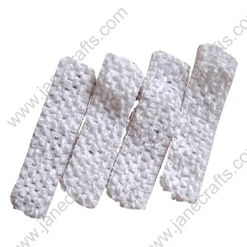 "1.5"" Crochet Headbands in White-24PCS"