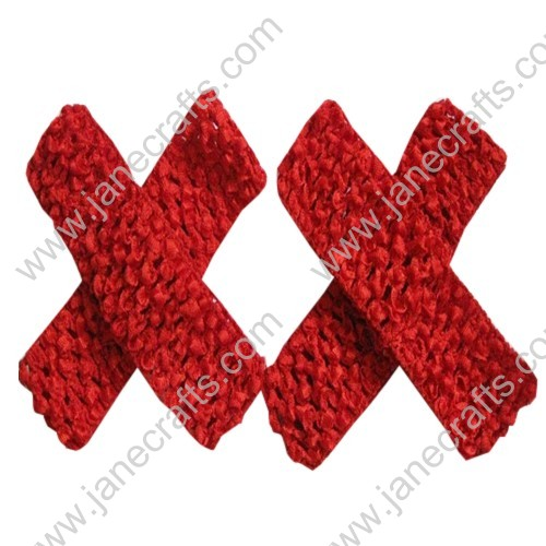 "1.5"" Crochet Headbands in Red-24PCS"