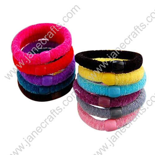 30PCS Candy Colorful Fuzzy Elastic Ponytail or Pigtail Holders/Headband