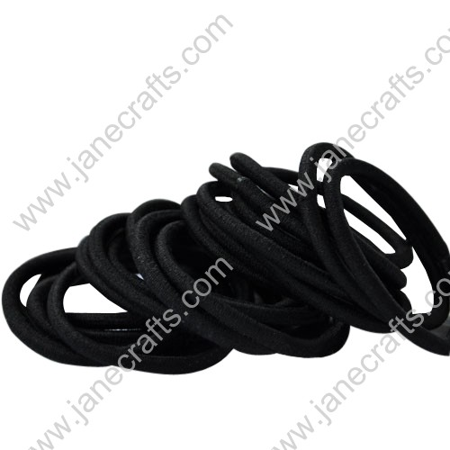 30pcs Black Elastic Ponytail or Pigtail Holders