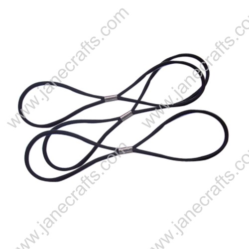 30PCS Black Skinny Elastic headband