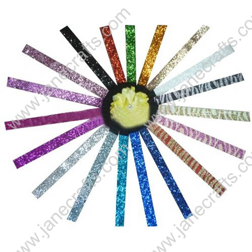 "12pcs 1"" 1"" Glitter Stretch SPARKLY Softball Sports Headbands"