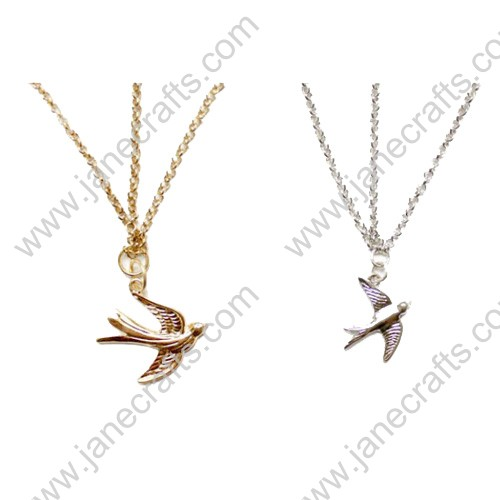 12pcs Women skinny Swallow Bird Pendant Elasticated Headband