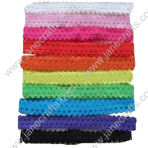 "24pcs 5/8"" Stretchable Baby Headbands For DIY Various Colors"