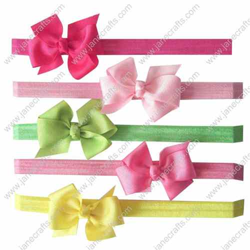 "13pcs 3"" Grosgrain Boutique Hair Bow clip Headbands 13 Colors"