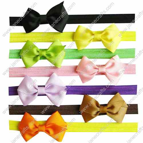 "14pcs 3"" Grosgrain Boutique Pinwheel Hair Bow clip Headbands 14 Colors"