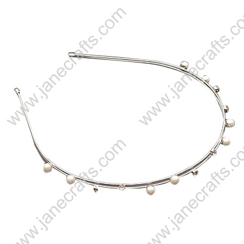 Princess Crystal Beads Metal Hairband Double Line Headband Wholesale Lots 24 PCS