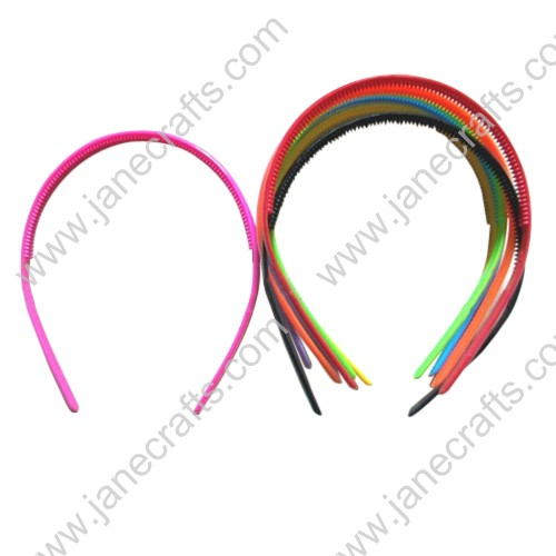 30PCS 8mm wide Mini Plastic Archie Plastic Headband at Random Color