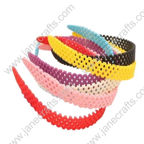 30PCS 15mm plum blossom Plastic Headband at Random Candy Color