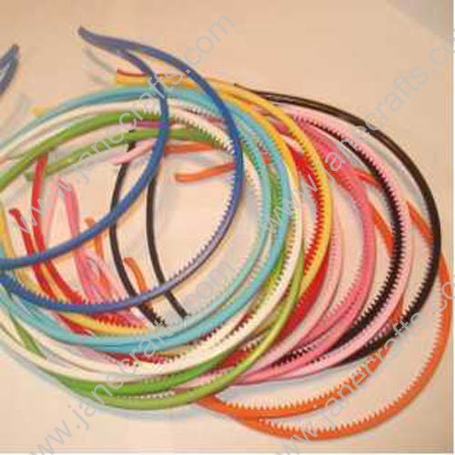 30PCS 4mm Skinny Candy Colored Acrylic Headband with Teeth
