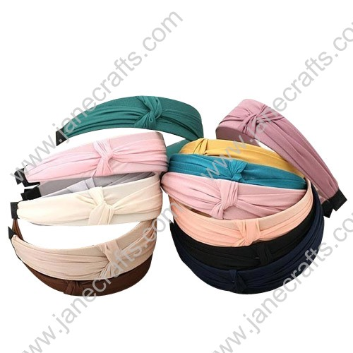 Chiffon Wrap Ruffle Wide Plastic Headband Wholesale Price 12PCS Hairband