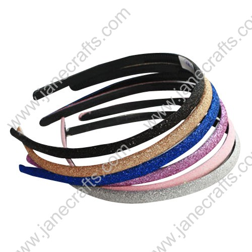 "8MM 3/8"" Candy Color Shimmering Plastic Headband Wholesale Lots 12PCS Hairband"