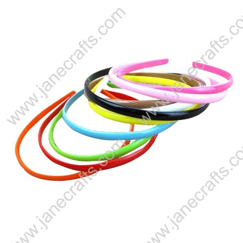 12MM Candy Color Plastic Headband Wholesale Lots 12PCS Assorted Color Hairband