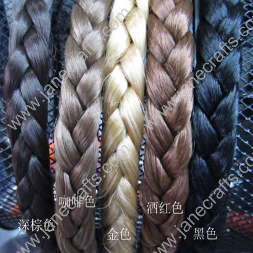 15MM Wig Braided Plastic Headband Wholesale Lots 12PCS Hair Band