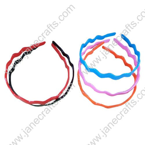 "15MM 5/8"" Candy Color Solid Wave Type Plastic Headband w/Teeth Wholesale Lot 12PC"