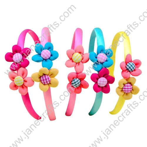 12pcs Winter Autumn Plastic Headbands with Small Flowers