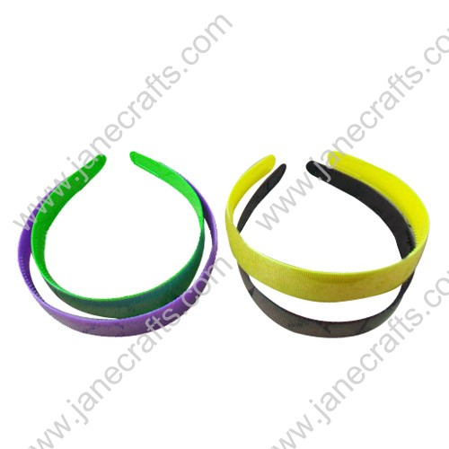 "23MM 7/8"" Candy Color Solid Wave Type Plastic Headband w/Teeth Wholesale Lot 12PC"
