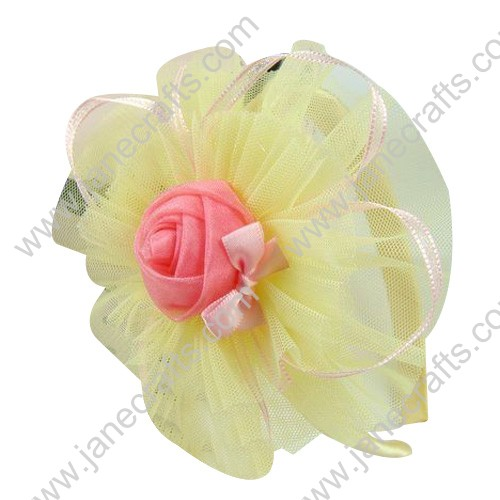Mixed Pack Headbands 12PCS with Organza Satin Flowers