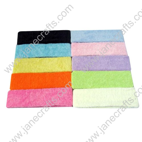 "60mm 2 3/8"" Extra Wide Fabric Headband Wholesale Lot 12PCS Sport Yogo Hairband"