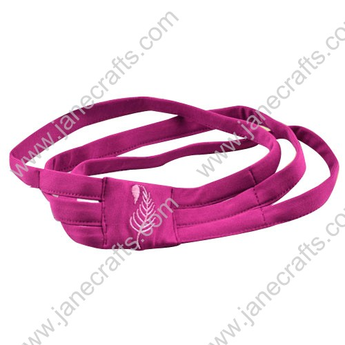 "6pcs 1.5"" Stretch Elastic Sports Headband Shocking Pink Mixed"