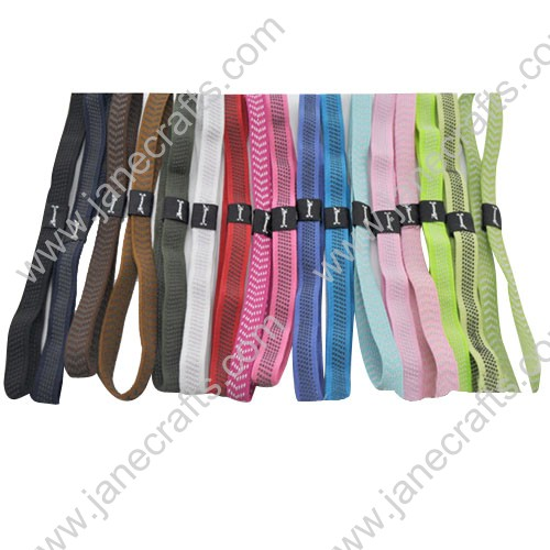 "12pcs 17"" Hot Sale Unisex Stretch Elastic Sports Headband"