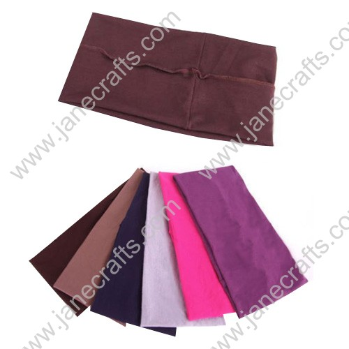 "6pcs 4 3/8"" Women Colored Wide Yoga Stretch Hairband"
