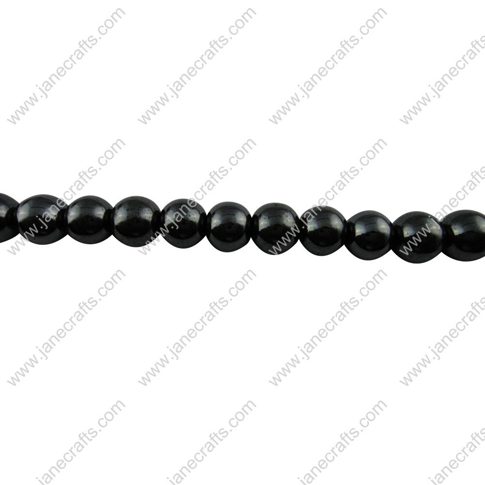5 Strands 10mm Black Non-magnetic Hematite Round Loose Beads 16""