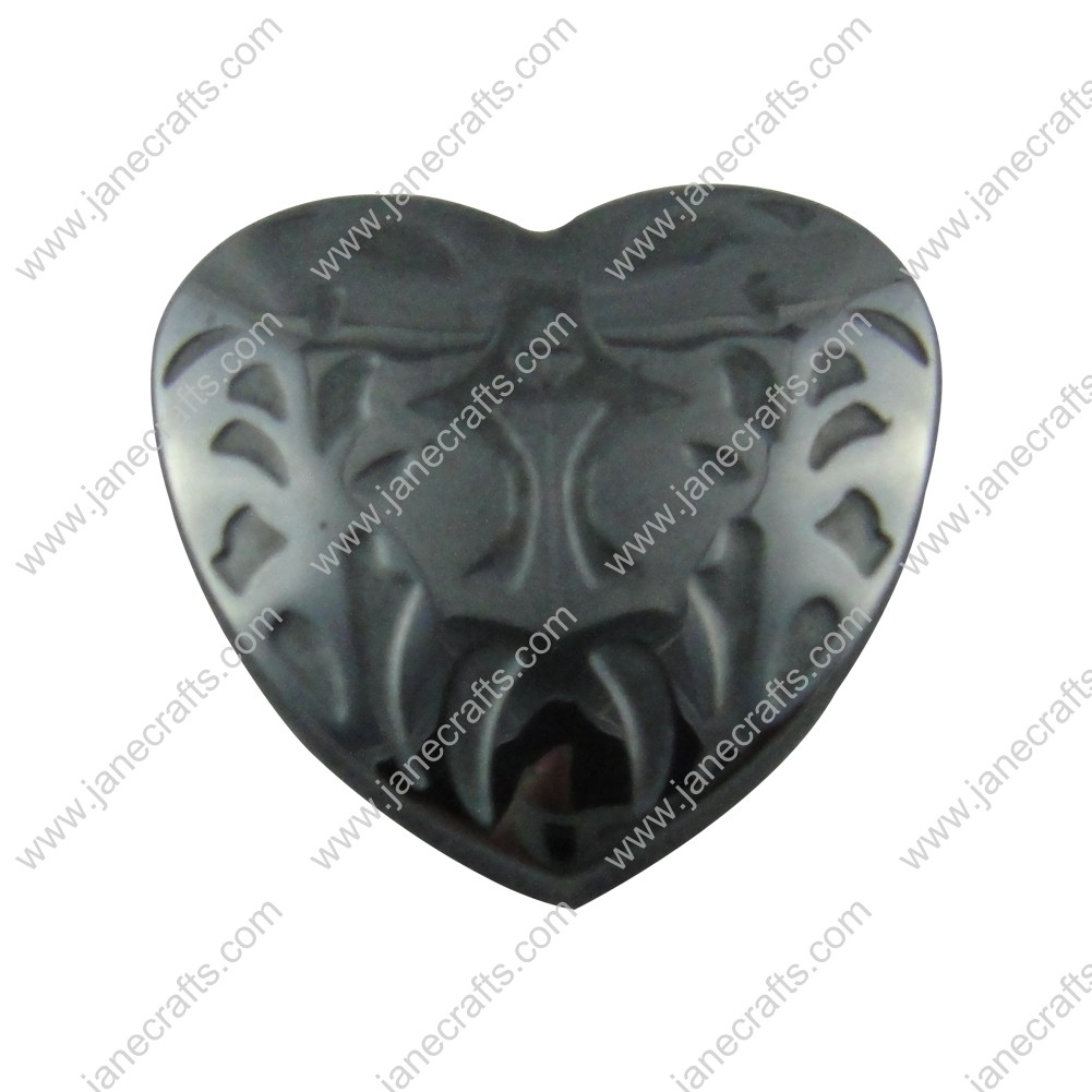 Black headbands for crafts - 25pcs 25mm Black Non Magnetic Hematite Hearts Loose Beads