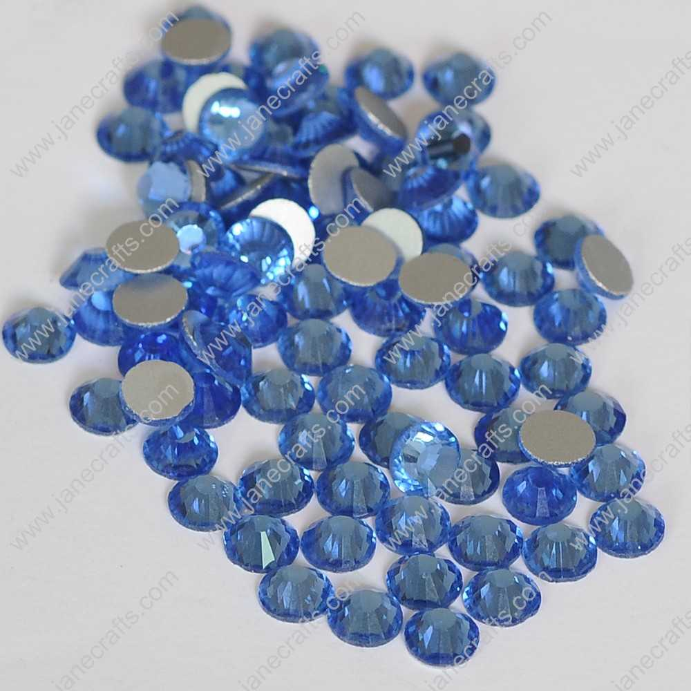 1440pcs High Quality SS6 2mm Glass Crystal Flatback Rhinestones-Lt Sapphire