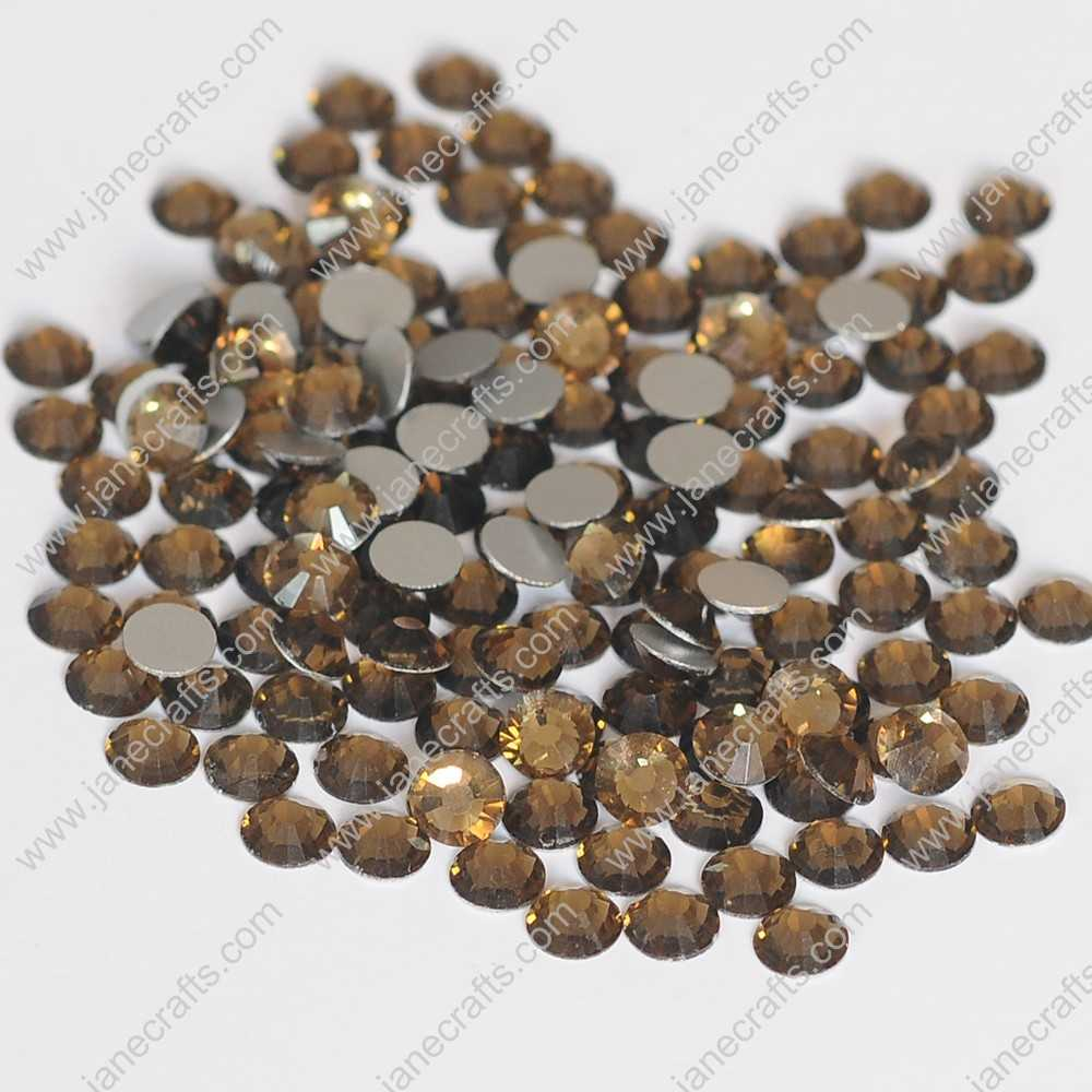 1440pcs High Quality SS6 2mm Glass Crystal Flatback Rhinestones-Smoked Topaz