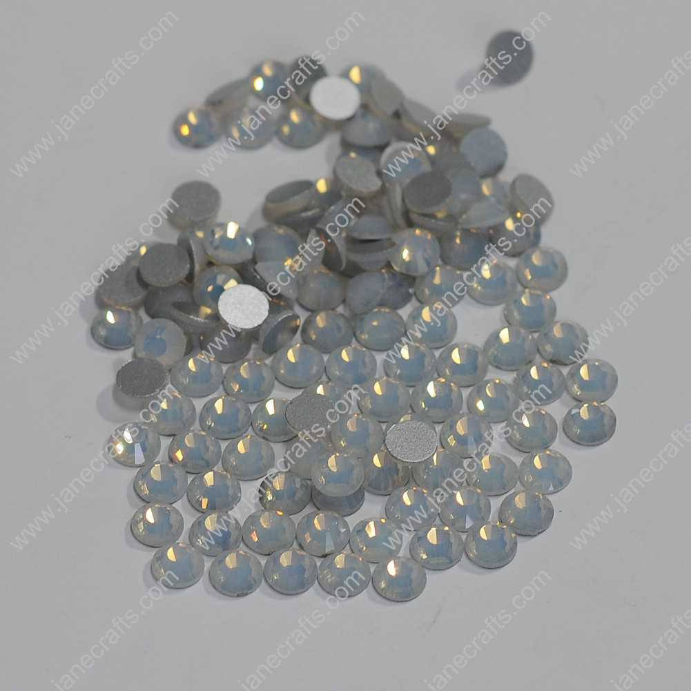 288pcs High Quality SS30 6.3mm Glass Crystal Flatback Rhinestones-White Opal
