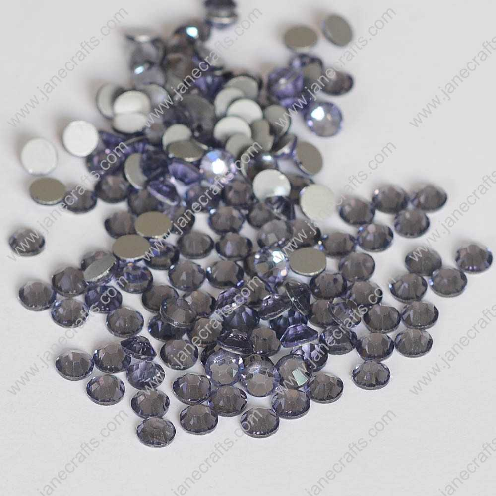 288pcs High Quality SS30 6.3mm Glass Crystal Flatback Rhinestones-Tanzanite