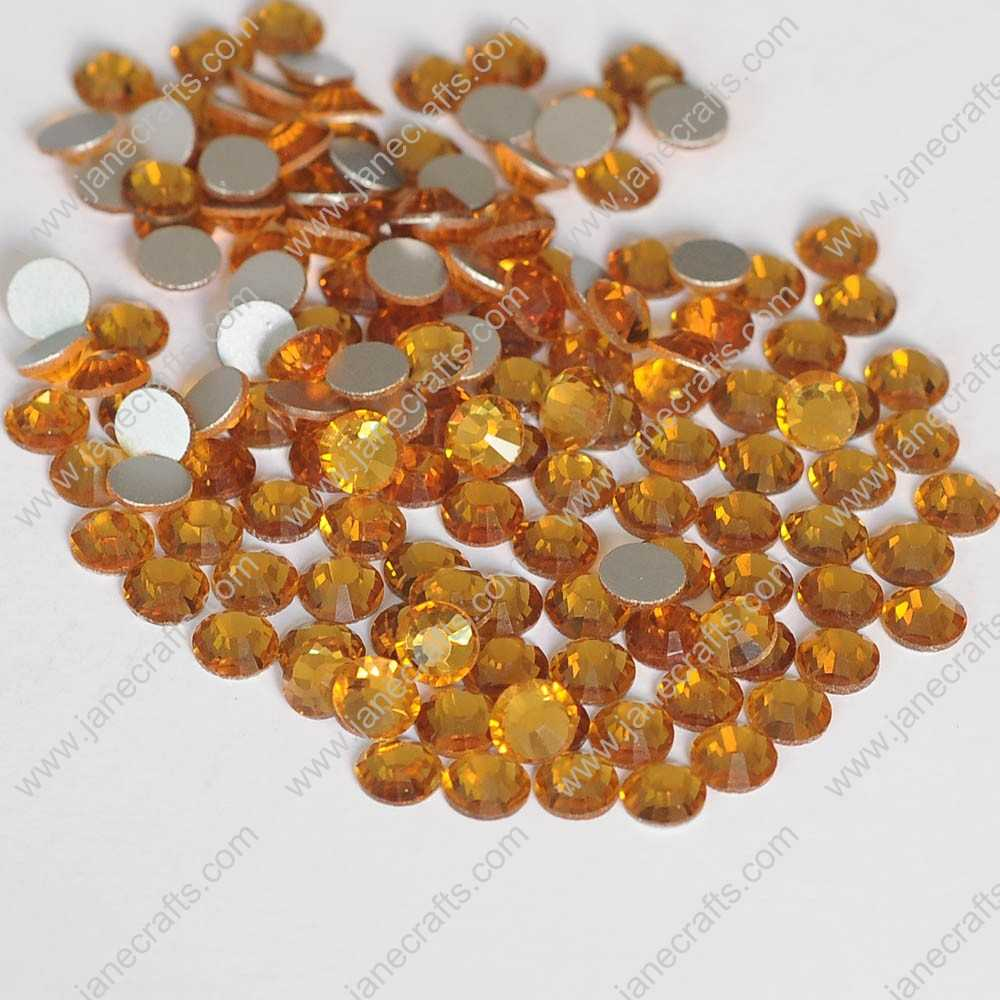 288pcs High Quality SS30 6.3mm Glass Crystal Flatback Rhinestones-Gold