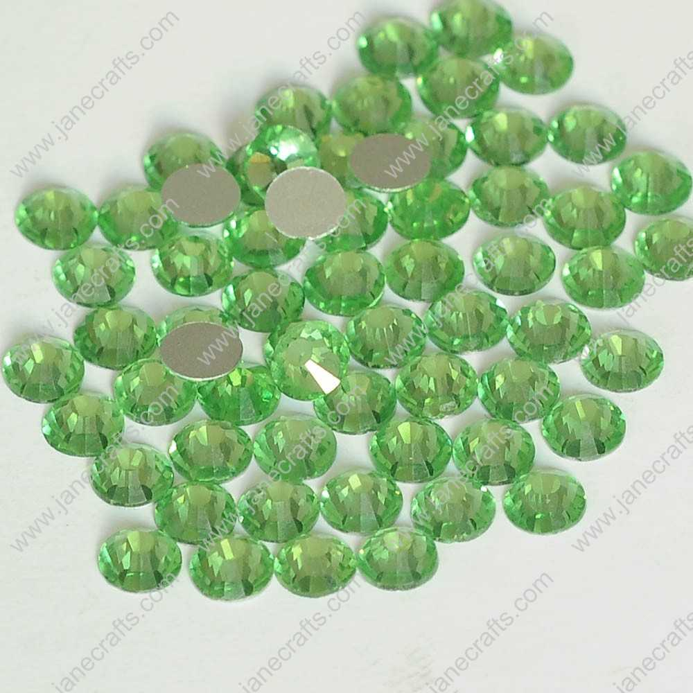288pcs High Quality SS30 6.3mm Glass Crystal Flatback Rhinestones-Lt Green