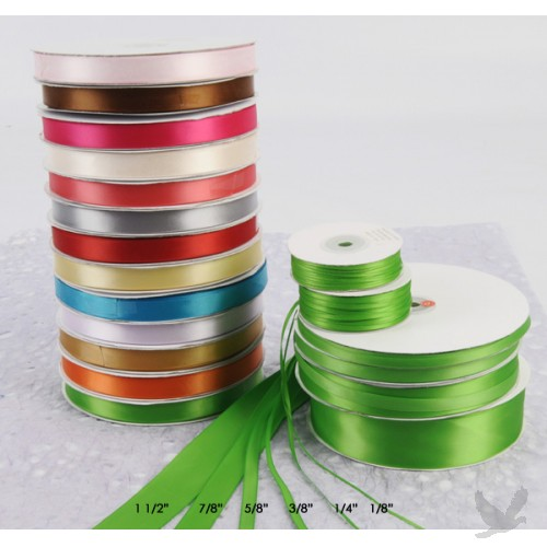 Double Face Satin Ribbon,196 Color,1/8  wide,500 yards/roll