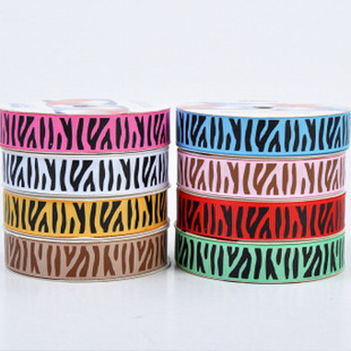"Wholesale Mix 500 Yard 1 1/2"" (38mm) Zebra Grosgrain Ribbon"