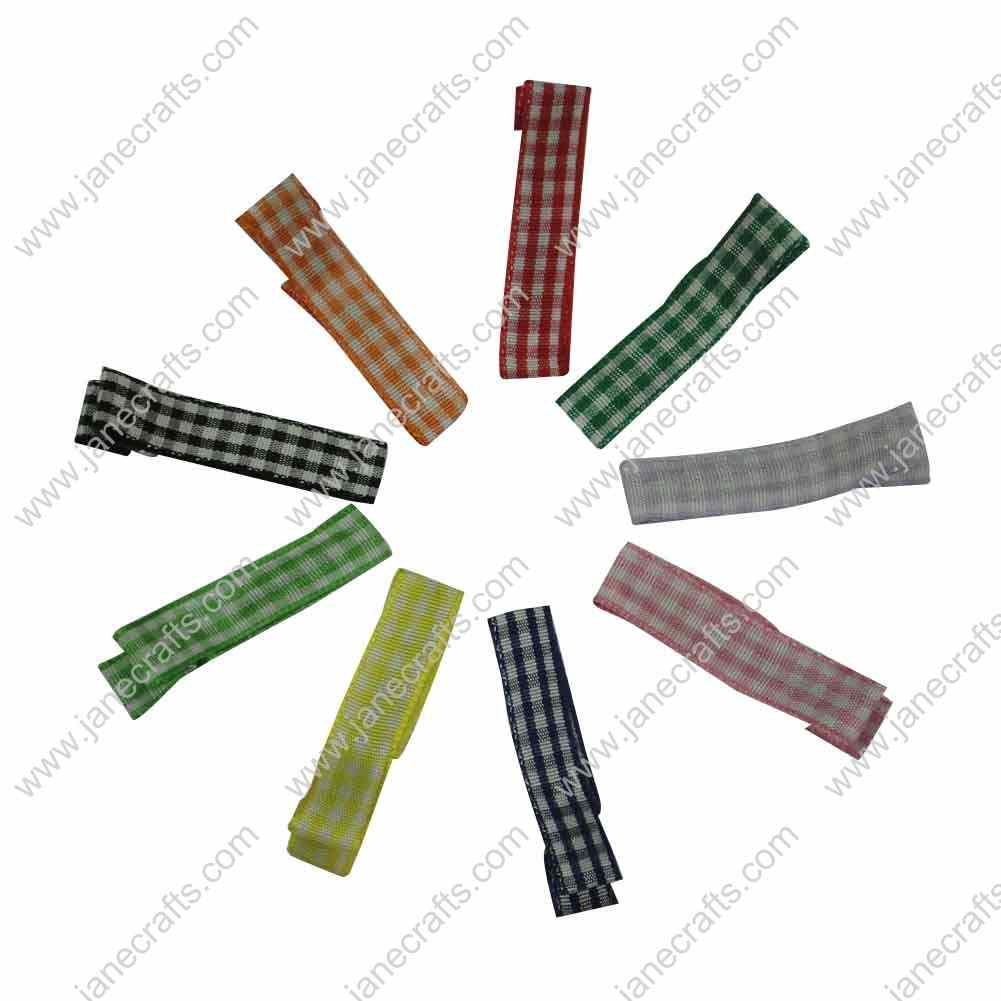 45mm(1 3/4 inch) Gingham Ribbon Covered Lined Alligator Clips 50pcs