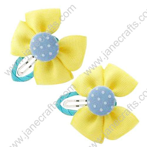 "Cute Lemon 2"" Hair Bow Baby Snap Clip Wholesale 10pcs"