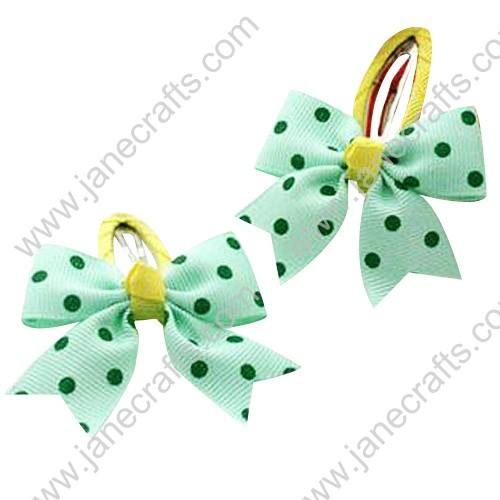 "Cute Mint 2"" Hair Bow Baby Snap Clip Wholesale 10pcs"