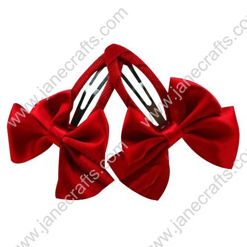 "Cute Red 2"" Hair Bow Baby Snap Clip Wholesale 10pcs"