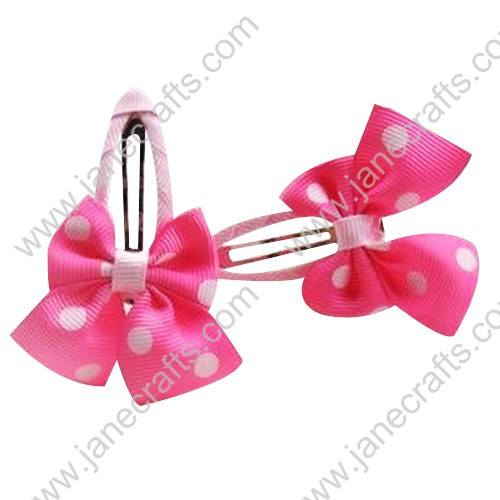 "Cute Pink 2"" Hair Bow Baby Snap Clip Wholesale 10pcs"