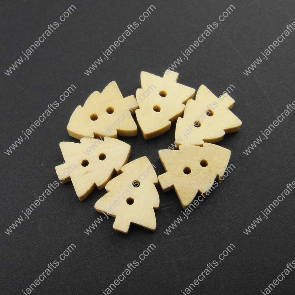 300pcs 15mm*12mm Wood Maple Sewing Button Scrapbooking